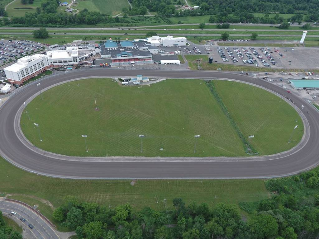 Drone shot of Race Track