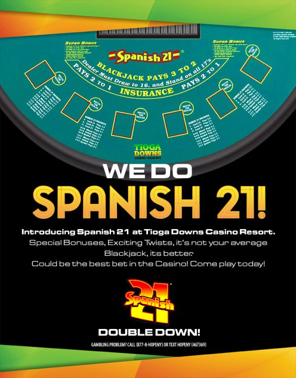 Table Games: Spanish 21 Poster